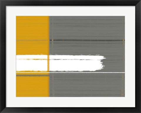 Framed Grey And Yellow Print