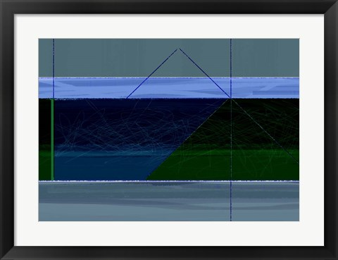 Framed Blue And Green Print