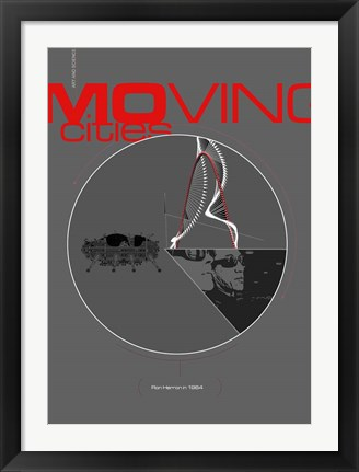 Framed Moving Cities Print