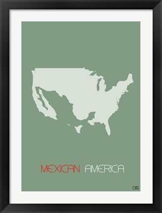 Framed Mexican America Print