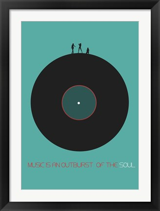 Framed Music Is In Outburst Of The Soul Print