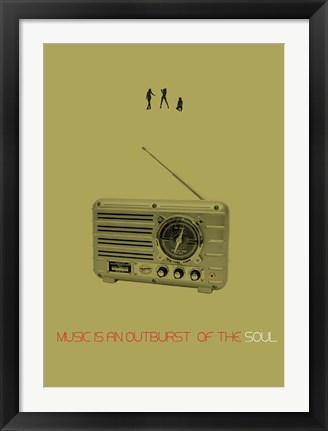 Framed Music Of Soul Print