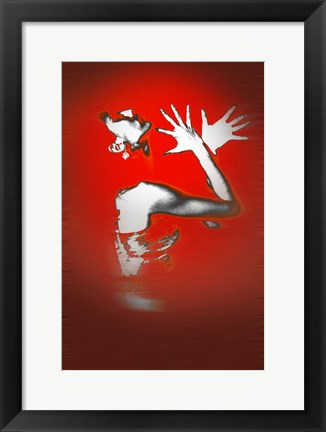 Framed Passion In Red Print