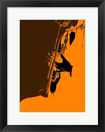 Framed Jazz Orange 2 Print