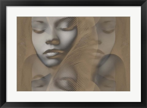 Framed Grey Beauty Print