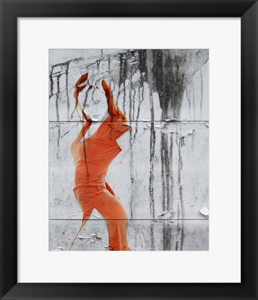 Framed Orange Dance Print