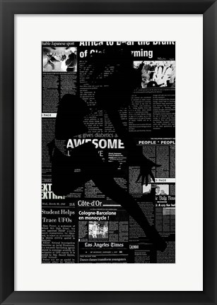 Framed Paper Dance Print