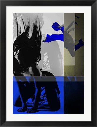 Framed Blue Romance Print
