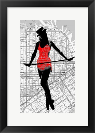 Framed Map And Dance Print