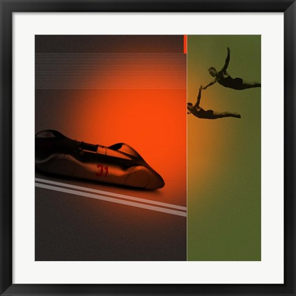 Framed Silver Flight Print