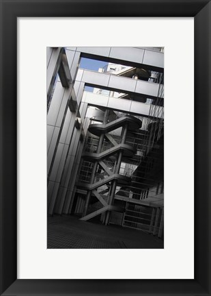 Framed Stairs Fuji Building Print