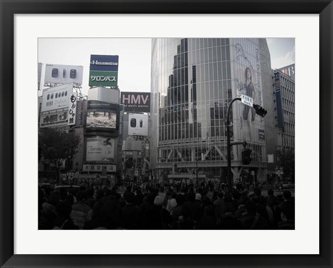 Framed Tokyo Intersection 1 Print