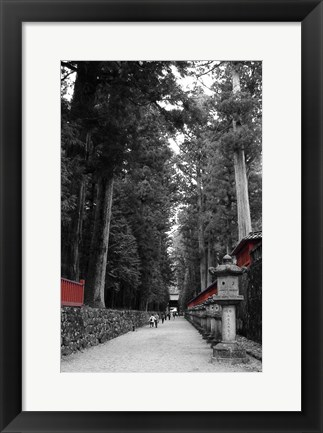 Framed Road To The Temple Print