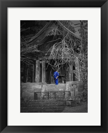 Framed Monk And Bell Print
