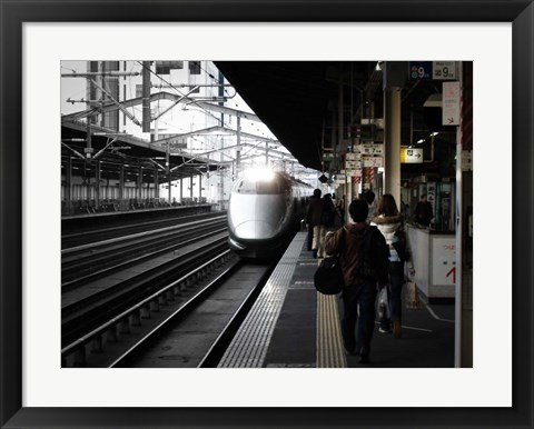 Framed Arriving Train Print