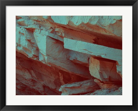 Framed Layers Of Rock Print