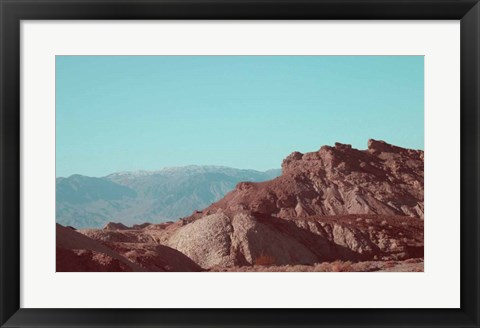 Framed Death Valley Mountains Print
