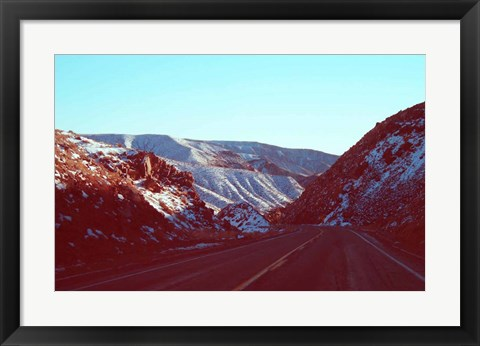 Framed Death Valley Road Print