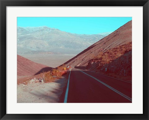 Framed Death Valley Road 3 Print