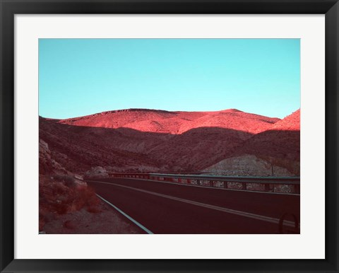 Framed Death Valley Road 4 Print
