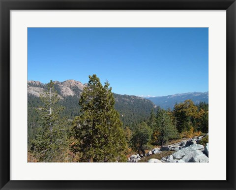 Framed Sierra Mountains 1 Print
