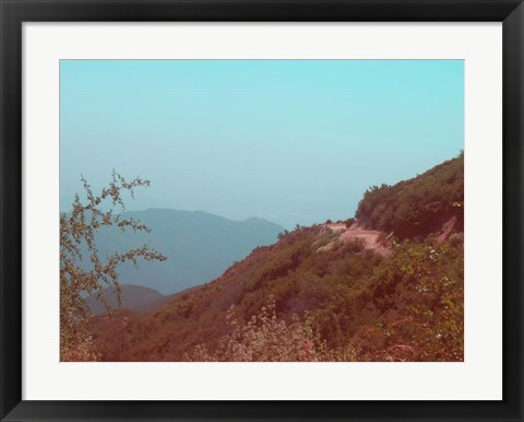 Framed Southern California Mountains Print