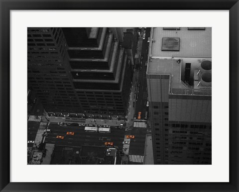 Framed NYC From The Top 1 Print