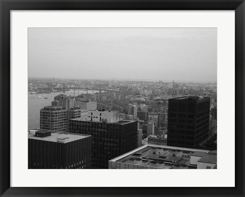 Framed NYC From The Top 2 Print