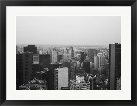 Framed NYC From The Top 3 Print