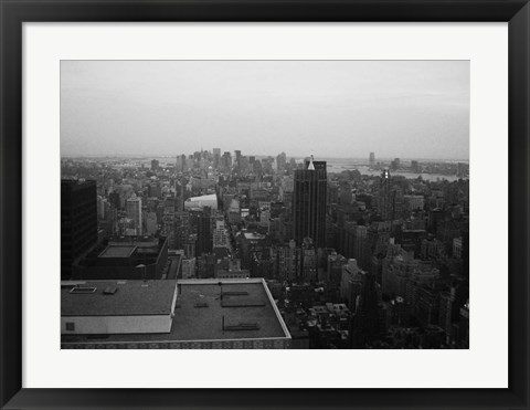 Framed NYC From The Top 5 Print