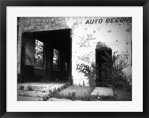 Framed Old Building In Detroit 1 Print