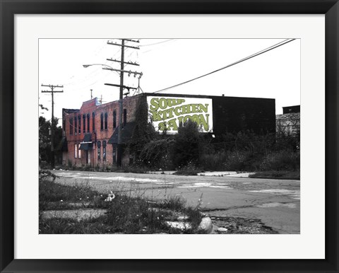 Framed Detroit Soup Kitchen Print
