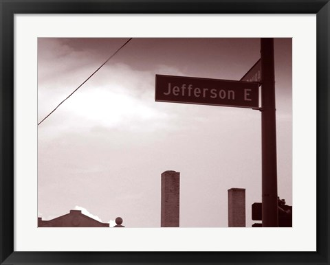 Framed Jefferson Avenue Print