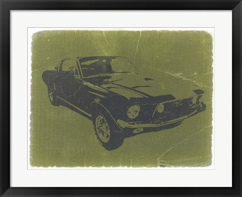 Framed 1968 Ford Mustang Print