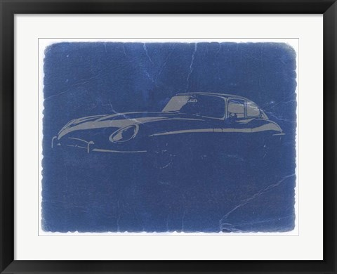 Framed Jaguar E Type Print