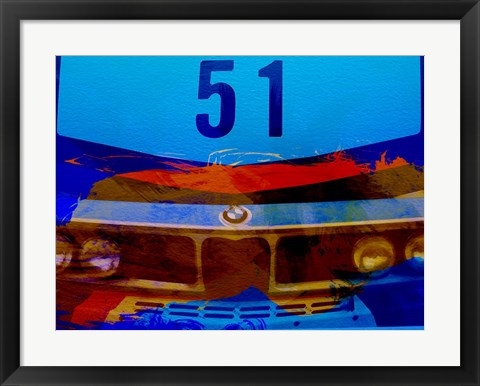 Framed Bmw Racing Colors Print