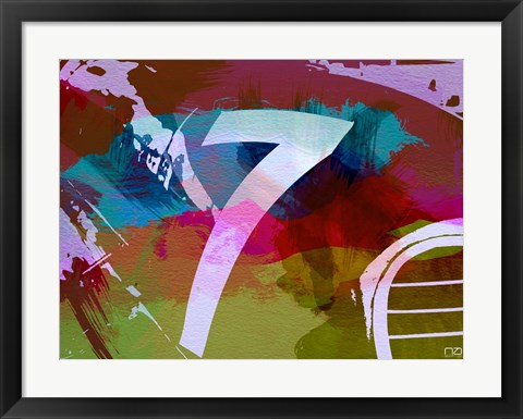 Framed Racing 7 Print