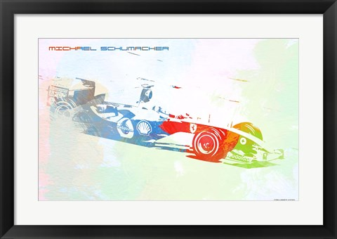 Framed Michael Schumacher Print