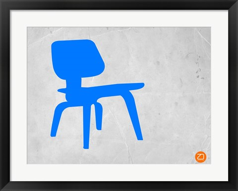 Framed Eames Blue Chair Print