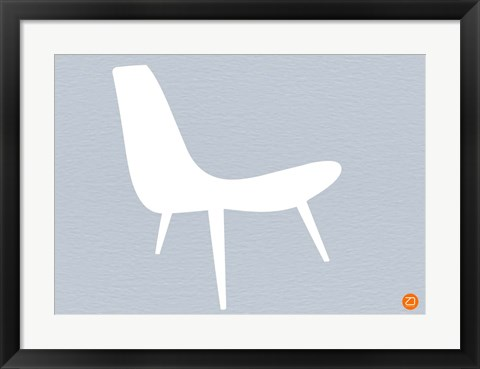 Framed White Lounger Print