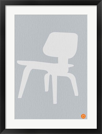 Framed Eames White Plywood Chair Print