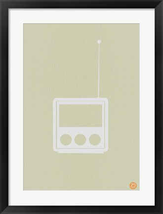 Framed Wooden Radio Print
