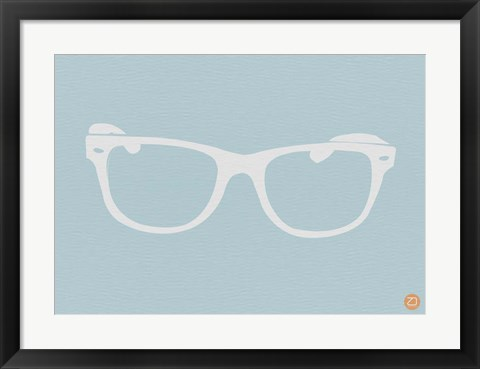 Framed White Glasses Print
