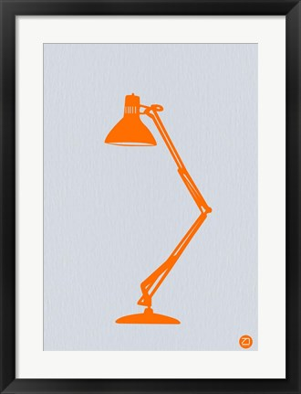 Framed Orange Lamp Print