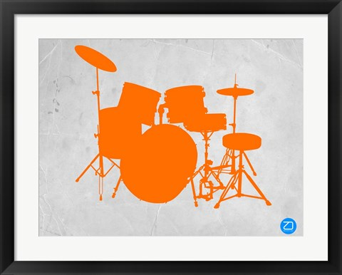 Framed Orange Drum Set Print