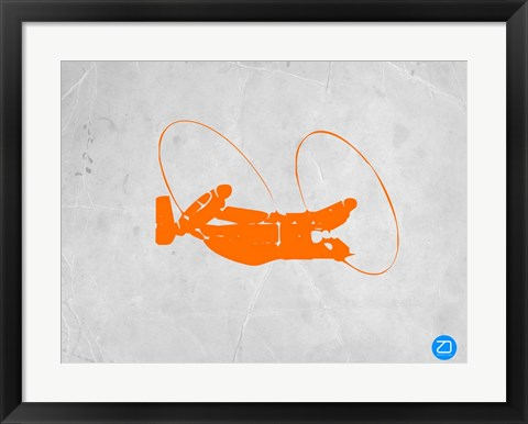Framed Orange Plane 1 Print
