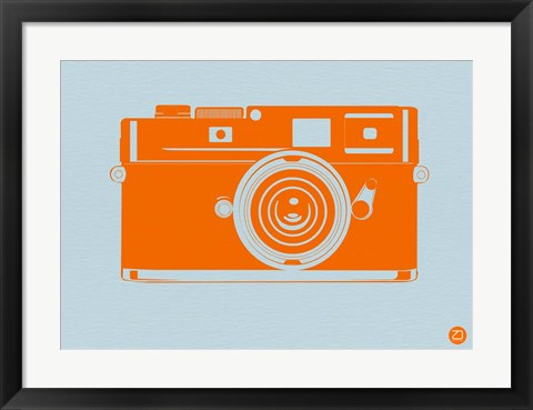 Framed Orange Camera Print