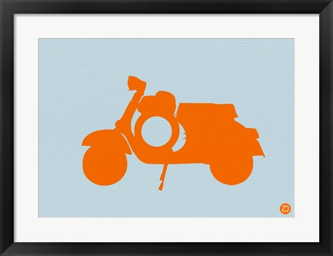 Framed Orange Scooter Print