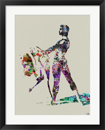 Framed Ballet Watercolor 1A Print