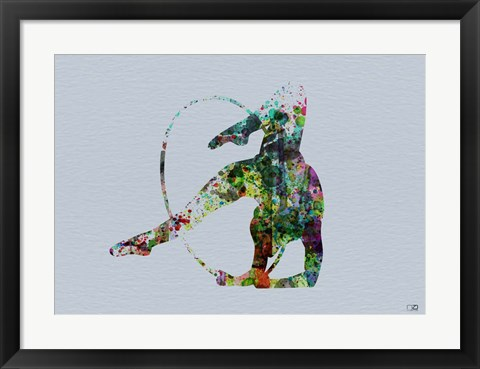 Framed Dancer Watercolor 3 Print